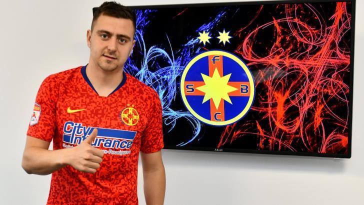 """Andrei Miron, prezentat la FCSB! """"Îmi doresc să ajut echipa la câștigarea unui nou titlu"""""""