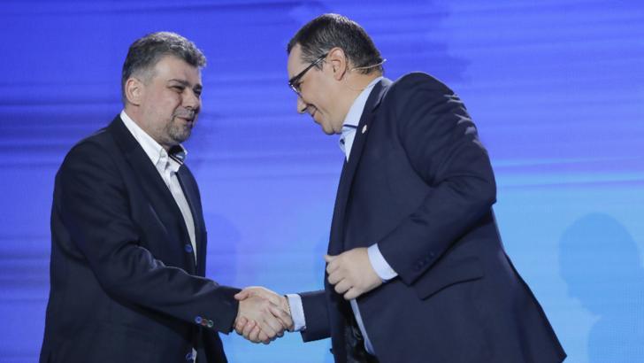 Victor Ponta și Marcel Ciolacu Foto: Inquam Photos / George Călin