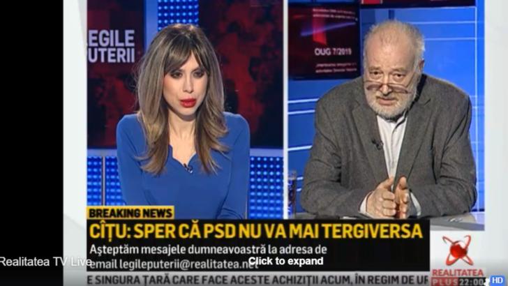 """Stelian Tanase, la Realitatea Plus: -PNL pierde voturi din cauza crizei politice"""""""