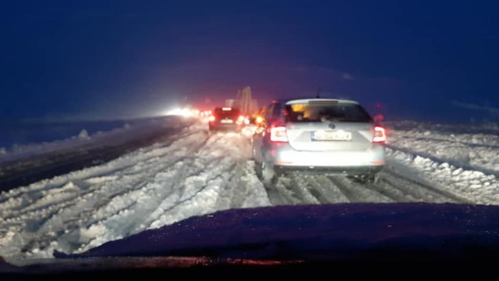 Condiții de iarnă pe drumurile din județul Suceava