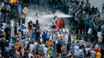 Violențe la mitingul Diasporei 10 august 2018 Foto: Inquam Photos