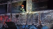 Incendiu puternic al unei garnituri de tren la arad