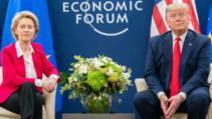 Ursula von der Leyen și Donald Trump