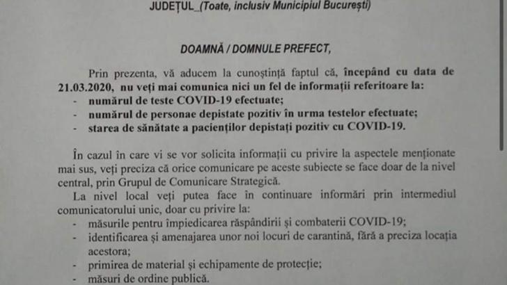 Alte 19 cadre medicale confirmate cu COVID-19 la Spitalul Militar Focsani