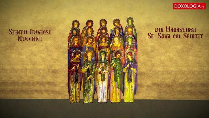 Sf. Cuv. Mucenici din Mănăstirea Sf. Sava cel Sfinţit