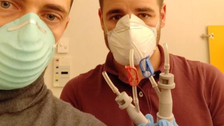 Valve respiratorii obținute prin tehnologia 3D în Italia Foto: BBC