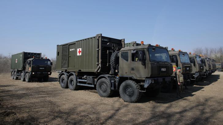 Fără precedent. Armata română face un spital în 5 zile. Primele imagini / Foto: Inquam Photos / Octav Ganea