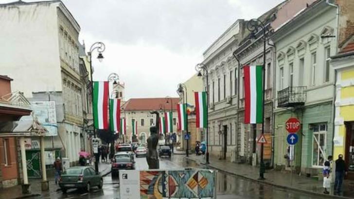Primarul din Sfântu Gheorghe, amendat din nou pentru arborarea drapelului Ungariei Foto: Facebook/Alexandru Bondaret