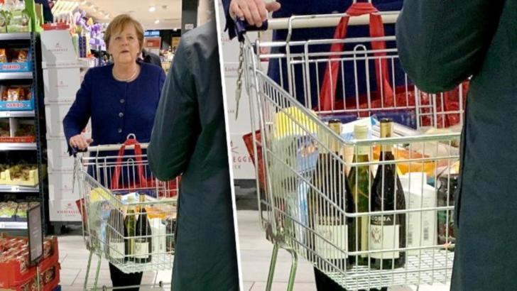 Coronavirus Europa. Cancelarul german Angela Merkel, la cumparaturi dupa hartie igienica si vin