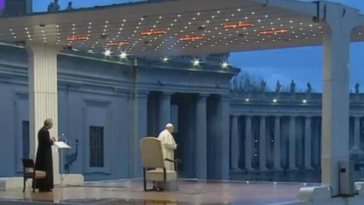 Moment de rugăciune la Vatican: Papa Francisc, mesaj pentru omenire
