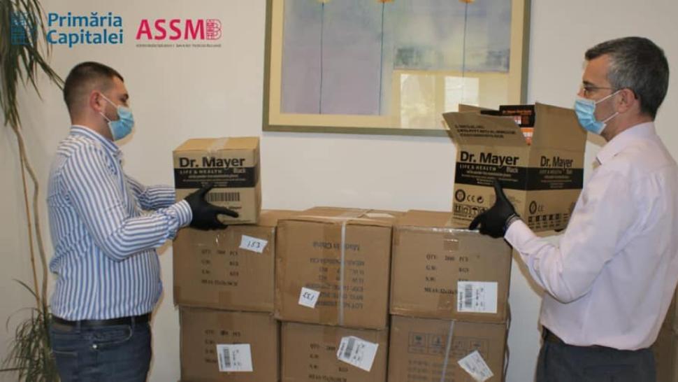 Firea anunță că 400.000 de mănuşi, 3.500 de măşti şi 5.000 de combinezoane au fost livrate spitalelor de ASSMB