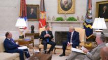 Convorbiri tete-a-tete intre Klaus Iohannis și Donald Trump (Biroul Oval), 20 august 2019