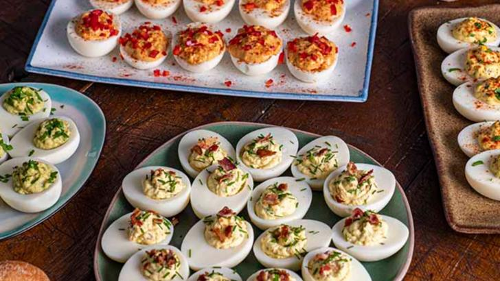Paște 2020. Aperitive de Paște. Ouă umplute Foto: delicatese.net