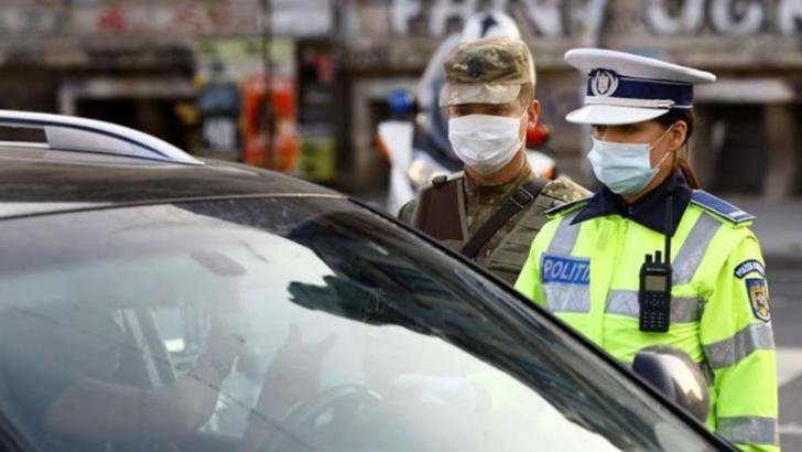 politie cu masti covid razie