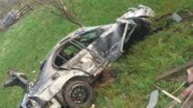 Accident rutier grav, în jud. Suceava. O mașină scăpată de sub control a făcut prăpăd: o victimă