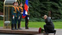 Vladimir Putin, singur la celebrarea Zilei Victoriei. Rusia a celebrat fără paradă militară 75 de ani de la victoria în Al Doilea Război Mondial Foto: The Moscow Times, TASS