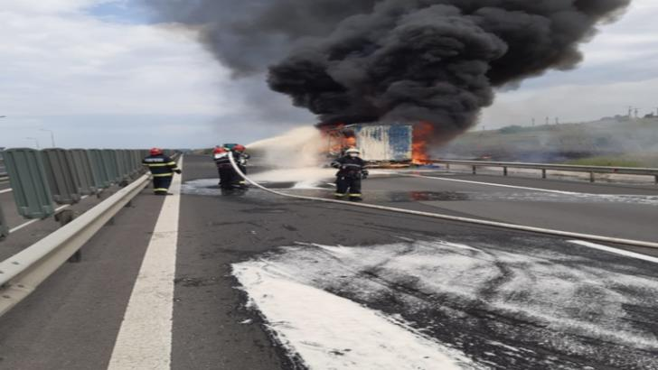 incendiu autostrada A1