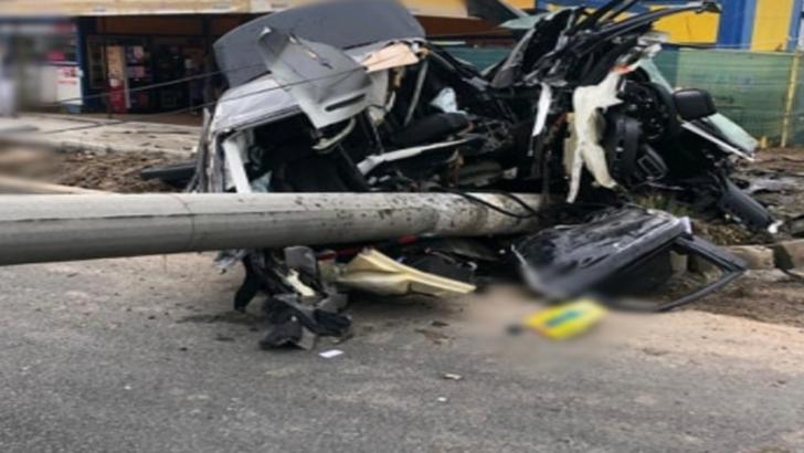 Accident grav de circulație în Giurgiu! Un Audi s-a rupt în două pe șoseaua București
