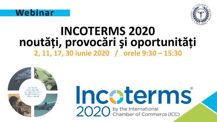 CCIR organizează webinariile INCOTERMS 2020 – noutăți, provocări și oportunități (P)