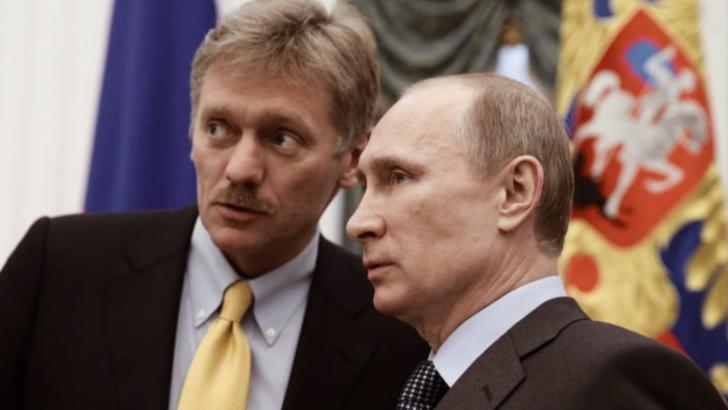 Dmitri Peskov, purtătorul de cuvânt de la Kremlin, al președintelui Vladimir Putin