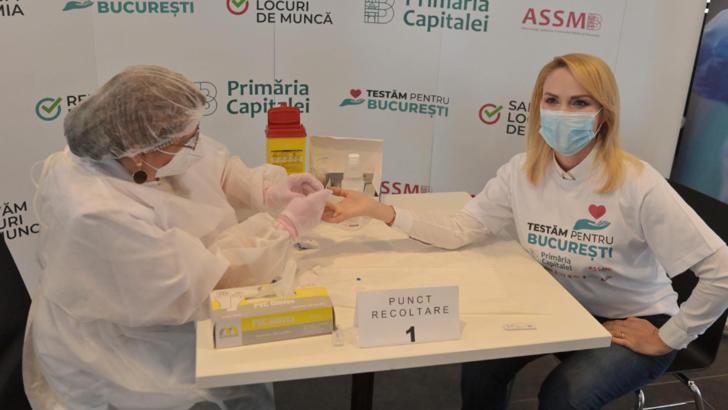 Gabriela Firea, date SURPRINZĂTOARE în urma testării CODIV: câți bucureșteni au fost testați pozitiv