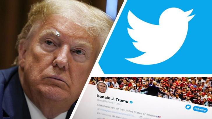 Donald Trump, blocat de Twitter