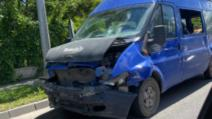 Accident grav, pe DN 1. Impact violent cu o dubă