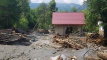 Inundații în Valea Jiului Foto: ISU Hunedoara