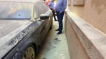 masina incendiata Timis