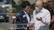 Conferință cu scandal între Nicuțor Dan și Aurelian Bădulescu, în Prelungirea Ghencea Foto: Inquam Photos/Octav Ganea