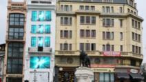 """Explozie de culoare pe faţada istoricei clădiri """"Casa cu Lei"""" (P)"""