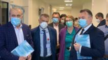 Nelu Tătaru, în control la Spitalul Orășenesc din Mioveni