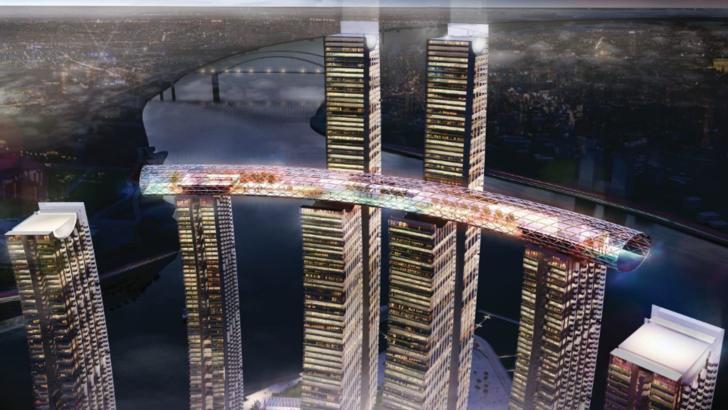 Minune arhitecturală. China a inaugurat cel mai înalt zgârie-nori orizontal