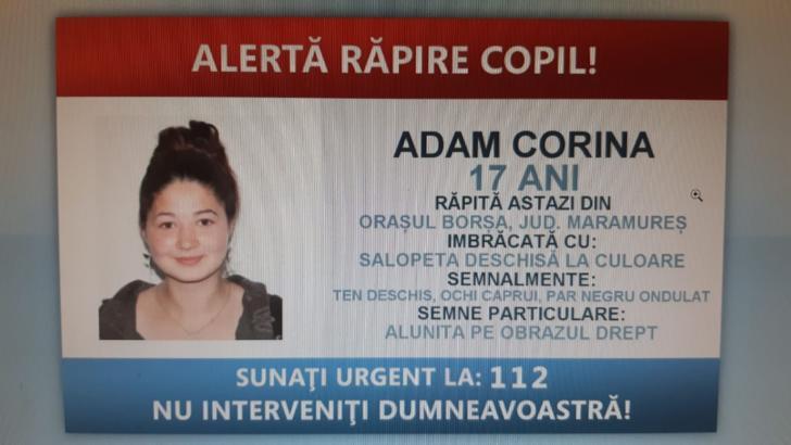 Adolescenta dispărută la Borșa a fost găsită la Arad, nevătămată