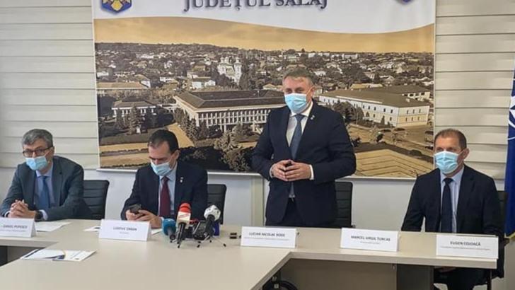 """Lucian Bode: """"Moment istoric pentru Sălaj. Astăzi s-a semnat contractul pentru primul lot din autostrada care va traversa județul"""""""
