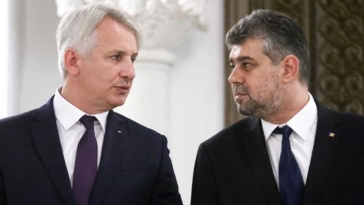 Eugen Teodorovici, senator PSD, și Marcel Ciolacu, președinte interimar la PSD și președinte al Camerei Deputaților