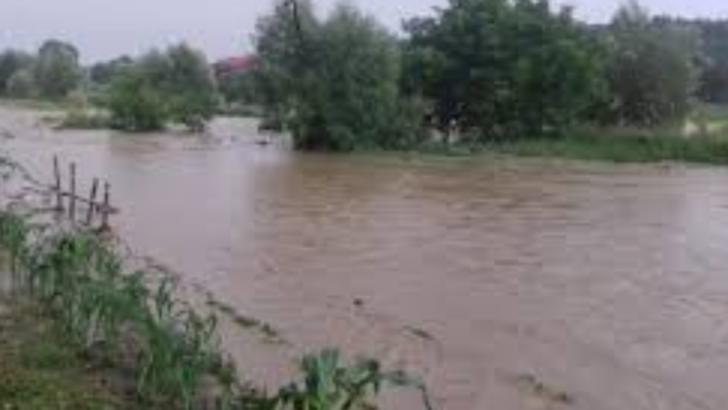Două pârâuri au ieșit din matcă! 200 de case au rămas IZOLATE sau fără energie electrică