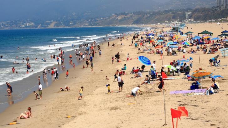 Plajă Los Angeles Foto: Twitter.com