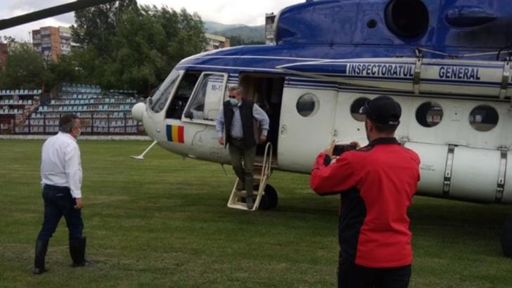 Ministrul de interne Marcel Vela, deplasare de urgență după inundațiile din Valea Jiului Foto: Prefectura Hunedoara