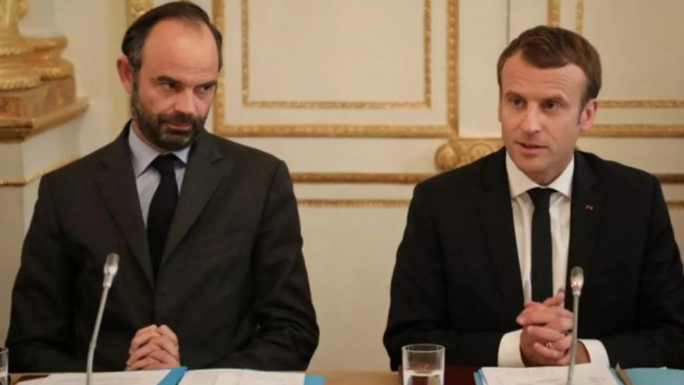 Emmanuel Macron, președintele Franței, și fostul premier prim-ministrul Edouard Philippe