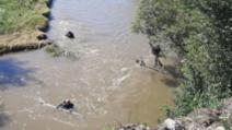 Trupul fetiței care a căzut în râul Cibin a fost găsit, după nouă zile de la tragedie Foto: Sibiu100.ro