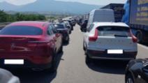Controale COVID-19 in punctul de trecere a frontierei dintre Bulgaria si Grecia. sursă foto: