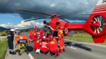 Accident grav în județul Bistrița Năsăud, 4 oameni răniți, a intervenit elicopterul SMURD