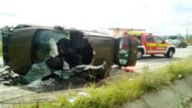 FOTO | Accident grav în județul Cluj, o femeie a ajuns la spital