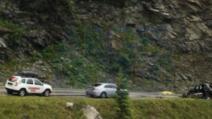 Tragedie pe Transfăgărășan, un mort și doi răniți după ce o mașină a ieșit pe pe șosea