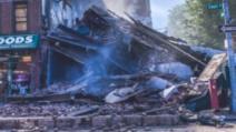 Panică la New York: o clădire de trei etaje s-a prăbușit