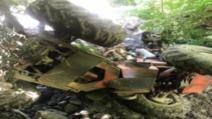 Accident grav într-o pădure din Suplai! O victimă, după ce s-a răsturnat cu tractorul plin cu lemne