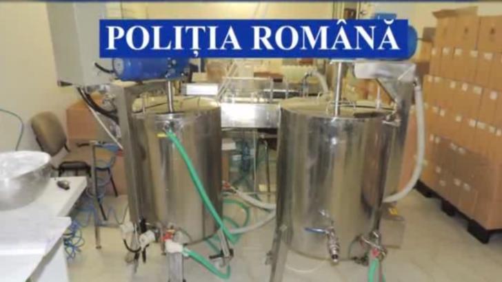 Percheziții la o fabrică de biocide CONTRAFĂCUTE din Botoșani