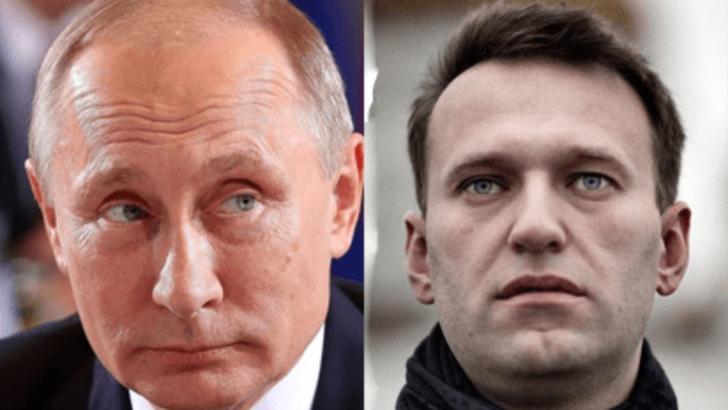Vladimir Putin și Aleksei Navalnîi, liderul Opoziției ruse