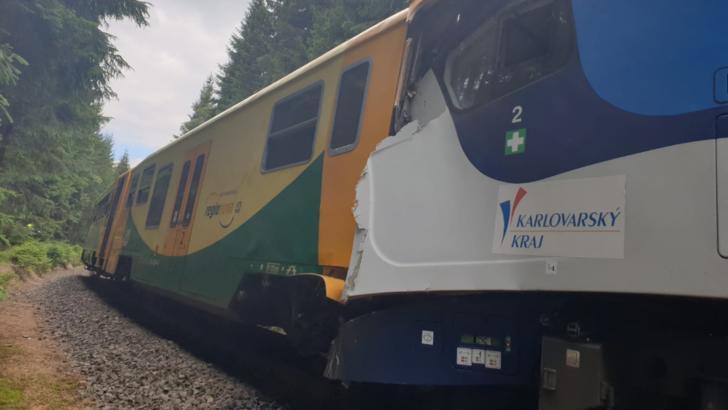 Grav accident feroviar în Cehia Foto: Twitter.com